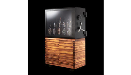 Armored display case for the whiskey collector