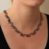 vanNienke Spirografisch collier met coinparels