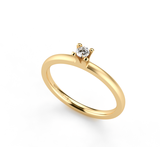 Niessing Amatis solitair, 18kt, 0.08ct Top Wesselton