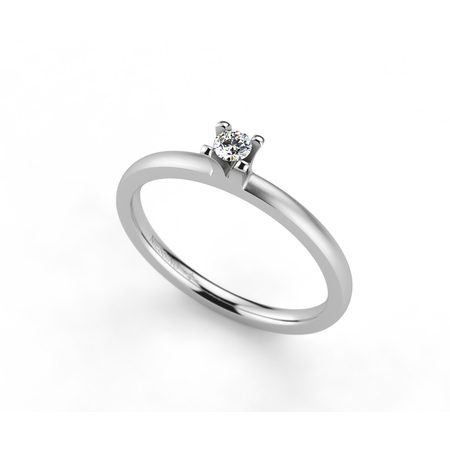 Amatis solitair, 18kt, 0.08ct Top Wesselton