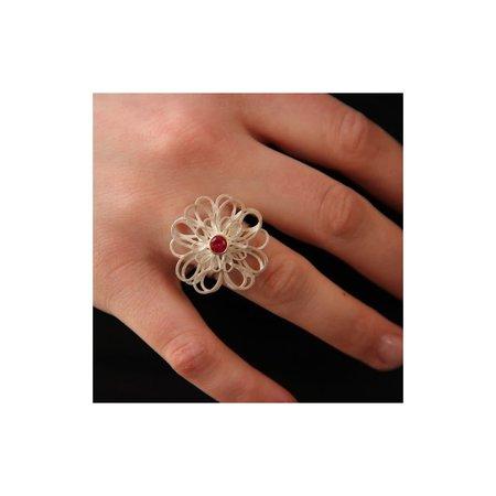 vanNienke Zilveren boeketreeks ring