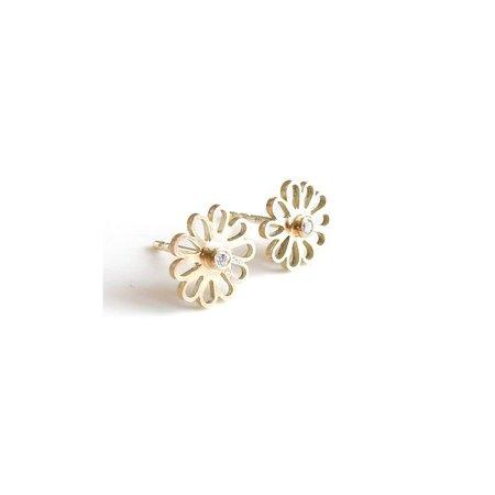 vanNienke Gouden 'Kaatjes' met diamant