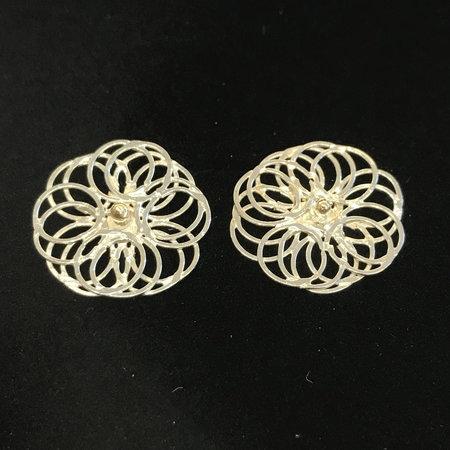 vanNienke Collier en oorstekers set, zilver spirografisch