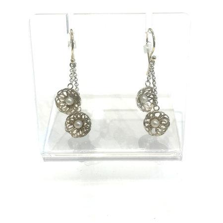 vanNienke Zilveren oorhangers met gouden oorhaken