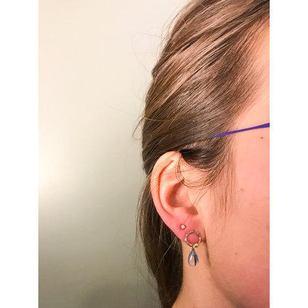 vanNienke GSE blauw topaas oorhangers
