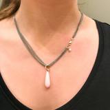 vanNienke GSE Collier met pink opaal hanger