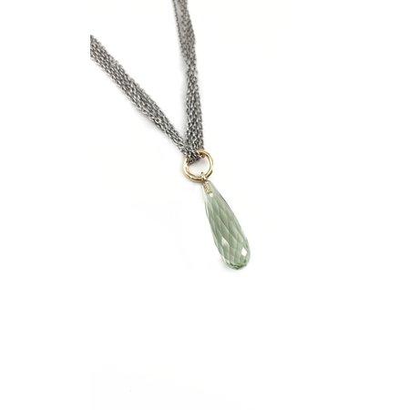 vanNienke GSE Collier met groene kwarts hanger