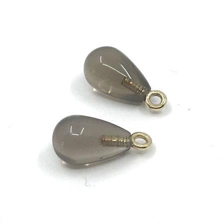 vanNienke Lockdowndeal vanNienke ; GSE Collier met rookkwarts hanger en GSE oorhangers met rookkwarts