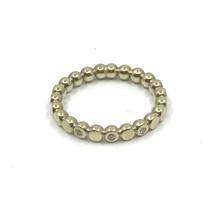 Gouden pareldraad ring met diamant