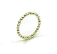 Geel gouden pareldraad ring maat 19