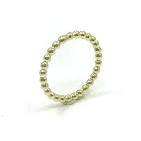 vanNienke Geel gouden pareldraad ring maat 19