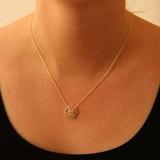 vanNienke Collier bloem (3-5 klein) wit goud, 45cm 1,3mm anker 2,0VSI FG diamant