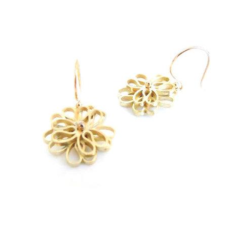 vanNienke Oorhangers (3-5 klein) geel goud met diamant 2 x 0.015ct 1,5mm vsi