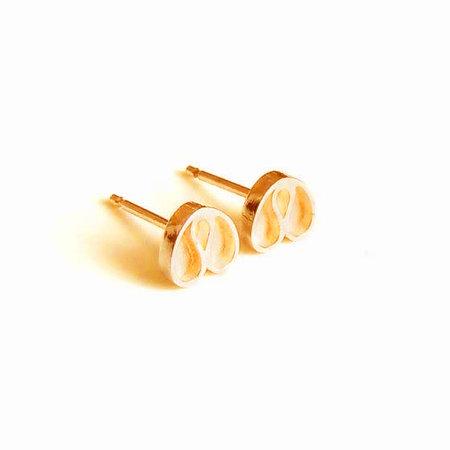 vanNienke Tulp oorstekers geel goud klein