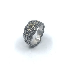 Galerie ring zilver breed