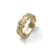 Galerie ring smal, 14 karaat goud