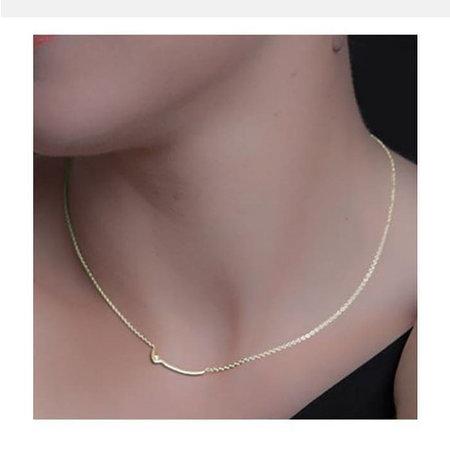 Copy of vanJorien zilveren collier met gouden hanger en diamant