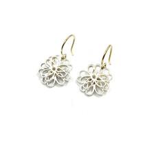 Oorhangers (3-5 klein) zilver wit met gouden haak