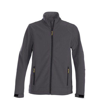 Geocaching Softshell jacket staalgrijs