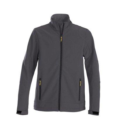 Softshell jacket heren staalgrijs