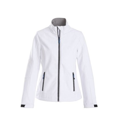 Geocaching Softshell jacket dames wit