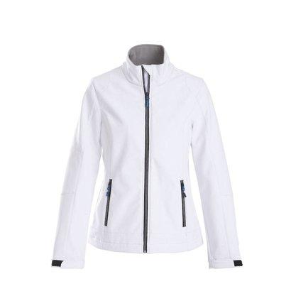 Softshell jacket dames wit
