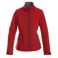 Softshell jacket dames rood