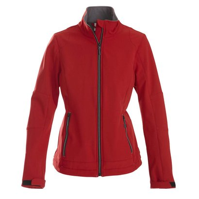 Softshell jacket dames rood