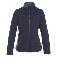 Geocaching Softshell jacket dames marine