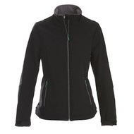 Geocaching Softshell jacket dames zwart