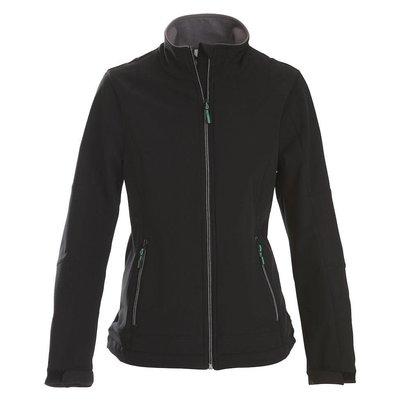 Geocaching Softshell jacket dames zwart