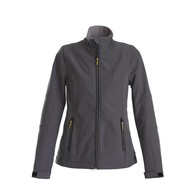 Geocaching Softshell jacket dames staalgrijs