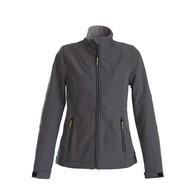 Softshell jacket dames staalgrijs