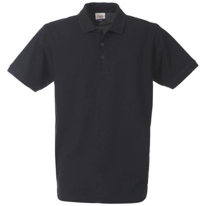 Polo met korte mouwen zwart
