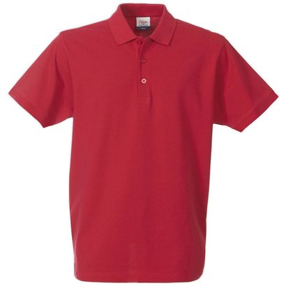 Polo met korte mouwen rood
