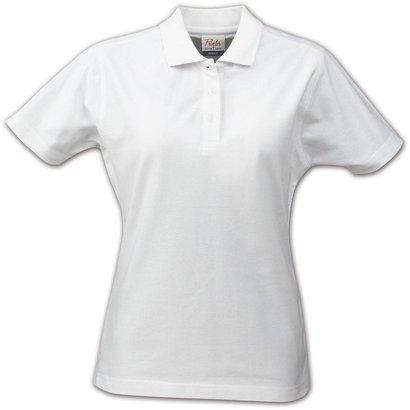 Polo voor dames met korte mouwen wit