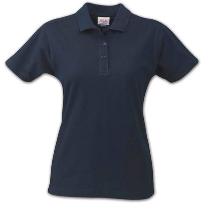 Polo met korte mouwen voor dames marine