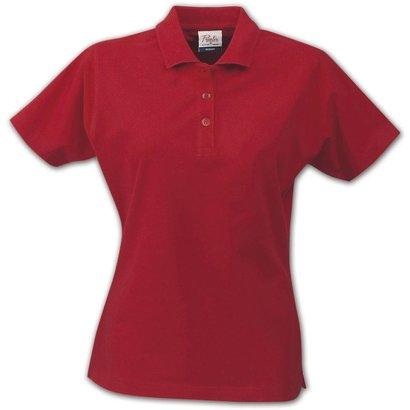 Polo met korte mouwen voor dames rood