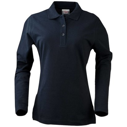 Geocaching Polo  dames LS navy