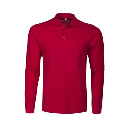 Geocaching Polo  heren LS rood