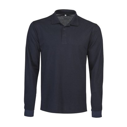 Geocaching Polo  heren LS navy