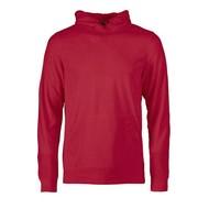 Fleece hoodie heren rood