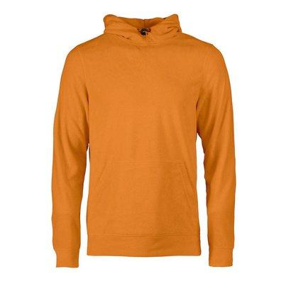 Fleece hoodie heren oranje