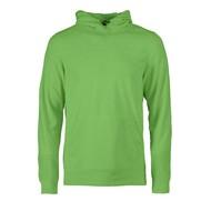 Fleece hoodie heren limoen