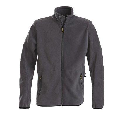 Fleece jacket heren staalgrijs