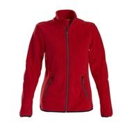 Fleece jacket vrouwen rood
