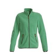 Fleece jacket vrouwen frisgroen