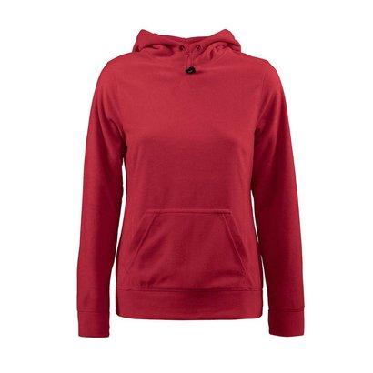 Fleece hoodie vrouwen rood
