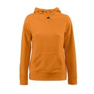 Geocaching Fleece hoodie vrouwen oranje