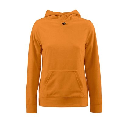 Fleece hoodie vrouwen oranje